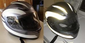 Reflective Tape On Motorcycle Helmet
