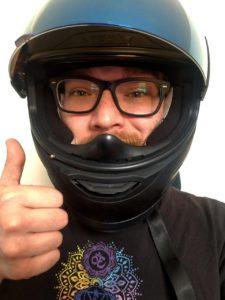 Icon Alliance Dark Helmet With Glasses