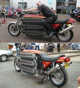 Cool 48-Cylinder Kawasaki Motorcycle