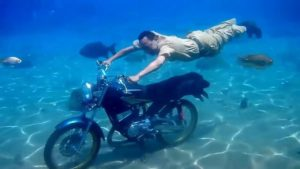 Cool Motorcycle Underwater Photography