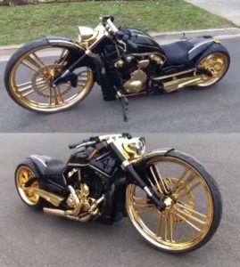 Custom Harley Motorcycle Picture