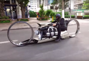 Hubless Airplane Engine Motorcycle