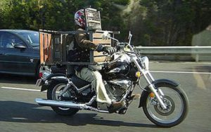 Moving Furniture With A Motorcycle