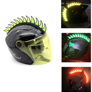 Motorcycle Helmet Reflective Spikes Add On
