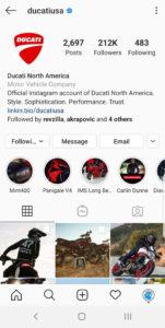 Best Motorcycle Instagrams - @ducatiusa