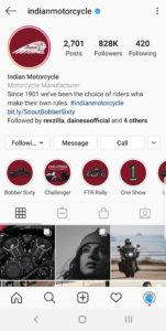 Best Motorcycle Instagrams - @indianmotorcycles