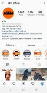 Best Motorcycle Instagrams - @ktm_official