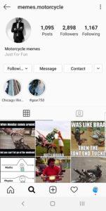 Best Motorcycle Instagrams - @memes.motorcycle