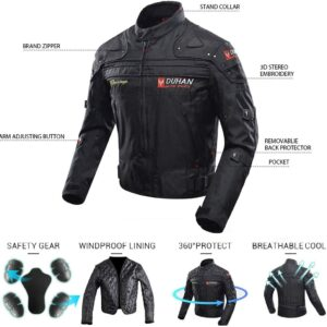 Duhan Motorcycle Jacket Features