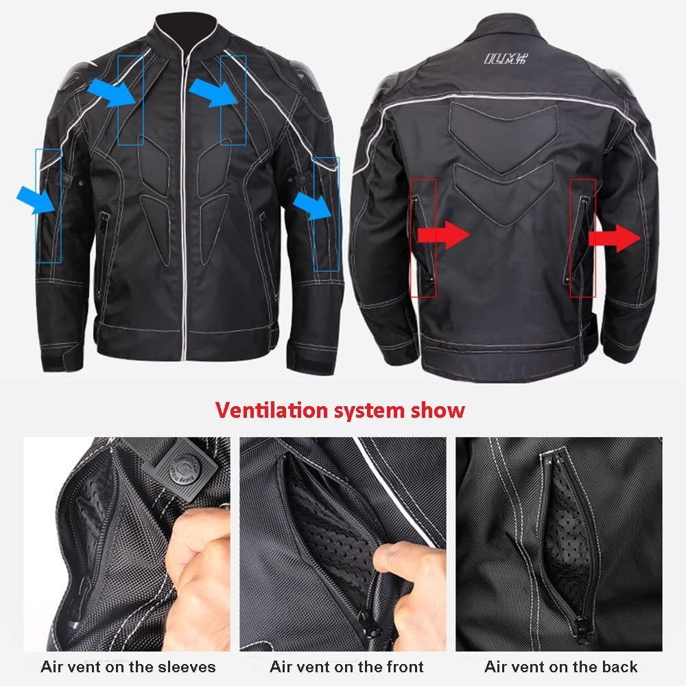 ILM JK41 Motorcycle Jacket Ventilation