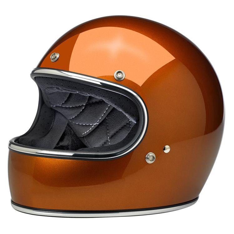 Biltwell Burnt Orange Motorcycle Helmet