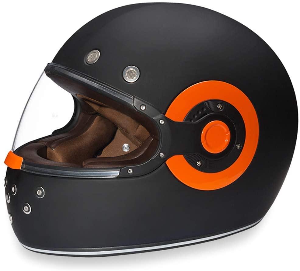 Daytona Helmets Burnt Orange Accented Motorcycle Helmet